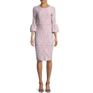 Betsey & Adam jacquard lilac metallic dress 4